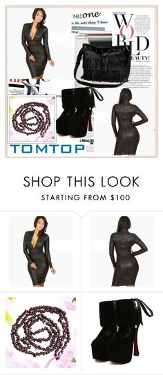 """TOMTOP+ 15"" by damira-dlxv ❤ liked on Polyvore featuring Balmain and vintage"