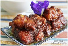 Babi Pong Teh - Braised Pork with Salted Bean Paste