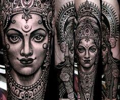 Tattoo. Saraswati. by anderson luna @ saved tattoo in brooklyn, ny
