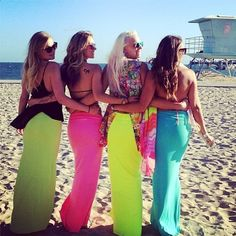 Rainbow beach maxi skirts  This clothing line is MEANT for summer! Mermaid inspired tops and long hip hugging maxi skirts in all kinds if colors - I can't say enough about this line. ♡