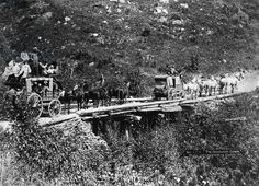 The Deadwood Coach, 1889 (b/w photo)