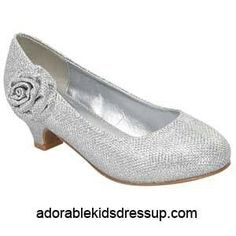 c4353ac27 Check out Girls Heels - silver glitter pumps at Cloud Nine Toys - Adorable Kids  Dress Up