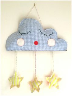Cloud pillow with star