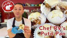 PUTO PAO - YouTube Pinoy Dessert, Filipino Desserts, Filipino Recipes, Siopao, Whole Eggs, Fresh Milk, Cake Flour, The Creator, Cooking Recipes