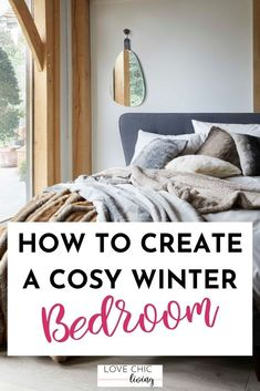 5 winter bedroom decor ideas to help you create the perfect cosy christmas bedroom this season! Winter bedroom ideas cosy ways to decorate your bedroom in winter. Winter bedroom decorating is a great way to upgrade your room for the new season. Discover winter bedroom colour schemes, our favourite winter home decor and more! #lovechicliving