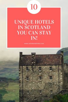 Castle Scotland: 10 Unique Hotels in You Can Stay In! Travel to the United Kingdom to check out these beautiful hotels! by monica Backpacking Europe, Europe Travel Tips, Travel Advice, Travel Uk, Hawaii Travel, Italy Travel, Unique Hotels, Beautiful Hotels, Best Hotels