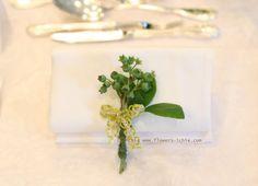 ナフキンフラワー スズラン 如水会館様へ : 一会 ウエディングの花
