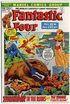 Fantastic Four #118 Nm- 9.2 Ow/white Pages  Vs. Crystal  Marvel 1972  No Reserve