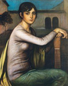 Julio Romero de Torres (1874-1930) - Tristeza andaluza (Andalusian Melancholy)