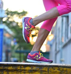 These cute and colorful New Balance sneakers are made out of an ultra-light material: excellent for cross-training, light aerobics, or just running errands around town!