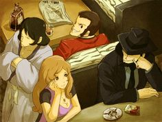Lupin III, Ishikawa Goemon XIII, Jigen Daisuke, Mine Fujiko