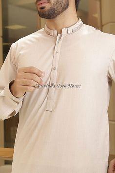 Beigi Plain Wash N Wear Classical Shalwar Kameez For Men Man Dress Design, Dress Designs, Shalwar Kameez Pakistani, Shirt Collar Pattern, Pathani Kurta, Kurta Men, Mens Kurta Designs, Wooden Sofa, Men Shirt