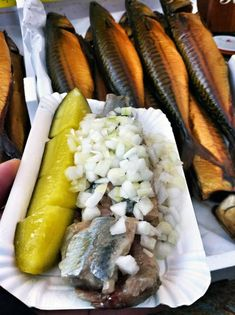 Herring - I wasn't a fan myself but I tried it at the Albert Cuyp Market, a street market in Amsterdam via @rtwgirl