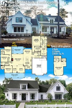 Architectural Designs Modern Farmhouse Plan 51754HZ