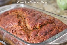 Healthy pumpkin banana bread, no butter. Very good recipe