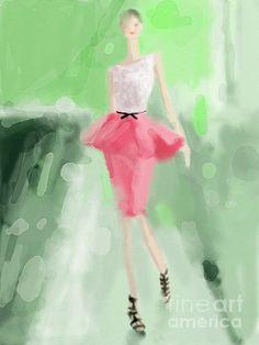 Jason Wu Peplum Skirt Fashion Illustration - Beverly Brown Prints