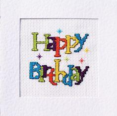 Birthday Cross Stitch Card Kit ⭐️ Many Different Designs ⭐️ £4.99