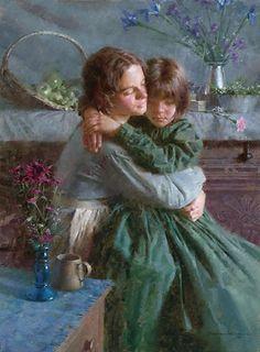 It's so nice to be held....Sisters  by Morgan Weistling