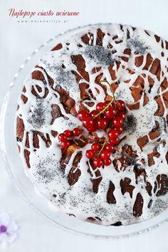 Najlepsze ciasto ucierane – cytrynowe z makiem i porzeczkami – Puszyste i wilgotne