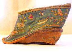 Chinese women's shoes from bound feet.