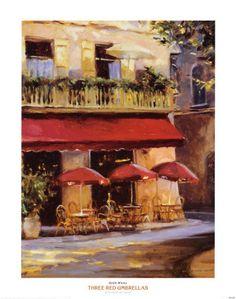 Outdoor cafe in Paris... La vie en rose.