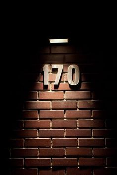 Installing modern house numbers outside Pinterest