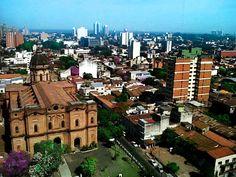 invierno paraguayo, vista desde lo alto de un edificio en Asuncion