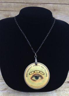 1895 Odd Fellows Pendant Vintage Occult Jewelry by SecretKnowledge