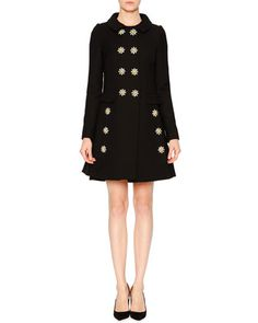 Embellished-Daisy Double-Breasted Coat & Sleeveless Dress by Dolce & Gabbana at Neiman Marcus.