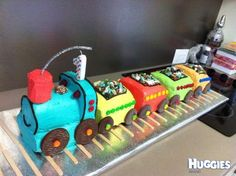 Train Cake - simple and super cute