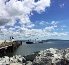 Arrive to Saint John in style aboard Bay Ferries! Photo via Trish M. Ferry Boat, Saint John, New Brunswick, Nova Scotia, Boats, Cruise, Water, Photos, Outdoor