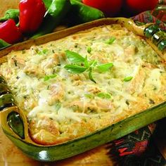 Try JALAPENO CHICKEN & RICE CASSEROLE! You'll just need 2 cups cooked rice, 2 cups (8 ounces) shredded Monterey Jack cheese, 1 1/2 cups cooked, chopped...
