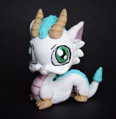 Littlest Pet Shop Dragon HAKU ooak custom figure LPS handpainted spirited away  #Hasbro