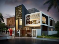 Modern home design ideas Archives - Page 465 of 584 - Popular Home Decor Bungalow House Design, House Front Design, Modern House Design, Indian House Exterior Design, Indian Home Design, Modern Bungalow Exterior, Modern House Facades, Modern Houses, Ultra Modern Homes