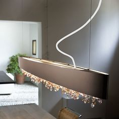 Ola Linear Suspension by Masiero Contemporary Pendant Lights, Modern Pendant Light, Custom Lighting, Modern Lighting, Luxury Lighting, Led Pendant Lights, Pendant Lighting, Novelty Lighting, Linear Chandelier