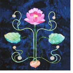 Vining Lotus applique pattern by Mary Kay Perry: Art Nouveau Designs inspired by tiles