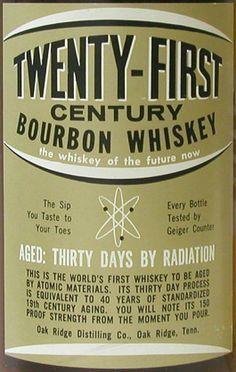 "c. 1963 - 1965 : ""Frisky Whiskey"": Aged 30 days by radiation"