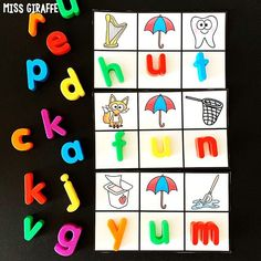 Building CVC Words is so fun! Kids look at the letter sound for each picture to figure out the secret! SO fun! Short Vowel Activities, Short E Words, Cvc Word Families, Sounding Out Words, Phonics Sounds, Short Vowels, Different Words, Cvc Words, Letter Sounds