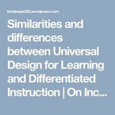 22 Best Universal Design And Learning And Differentiated Instruction Images Differentiated Instruction Universal Design Learning