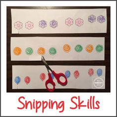Here is a simple little freebie to practice scissor snipping skills and a short… Cutting Activities, Motor Activities, Therapy Activities, Kindergarten Activities, School Ot, School Stuff, School Ideas, Pediatric Occupational Therapy, Improve Handwriting