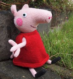 Knitting Patterns Peppa Pig Toys : Knitted Peppa Pig pattern FREE toy instructions, download them here Craft i...