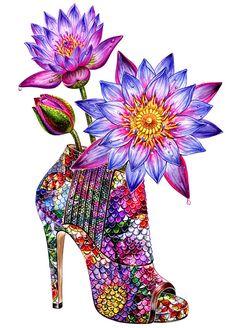 Ilustrado de zapato de tacón ilustración de moda de la por sunnygu