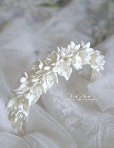 bridal headpiece/ tocado de novia | Lena Rom