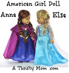 American Girl Anna Elsa Doll Disney Frozen #Frozen #AmericanGirlDoll, #GiftIdea, #Christmas