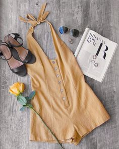 Picnic Weekend Button-Up Romper #shoppriceless