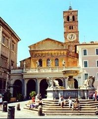 Trastevere SM PIC Best Hotels and B&B's in Trastevere. Section of Rome known for its younger crowd, great shopping, rustic town atmosphere, casual authentic restaurants and a lively dinner crowd that's out on the streets into the wee hours. YES!