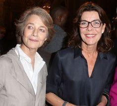 La actriz Charlotte Rampling y la princesa Carolina de Mónaco estuvieron presentes este miércoles en la ceremonia de ingreso en la Académie française del escritor haitiano Dany Laferrière.