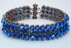 Swarovski crystal cuff/pearls/sead bead by FlyBellaDesigns on Etsy, $55.00
