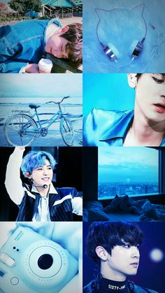 Bluer than blueeee Exo Kokobop, Park Chanyeol Exo, Chanyeol Cute, Kyungsoo, Aesthetic Backgrounds, Aesthetic Wallpapers, Exo Lockscreen, My Bebe, Exo Fan