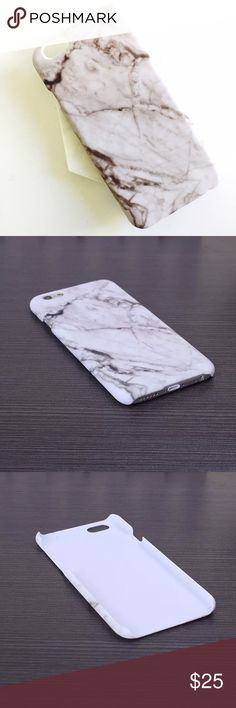 Urban Outfitters: iPhone 6/6s Cover, White Marble Beautiful lightweight plastic cover that snaps on. Warm grey marble stone print. Hard plastic. 4.7 inches. 9 available! Brand new, never used. Urban Outfitters Accessories Phone Cases